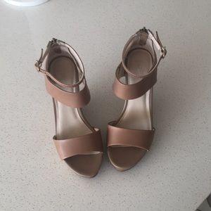 Seychelles Tan Platform Sandals